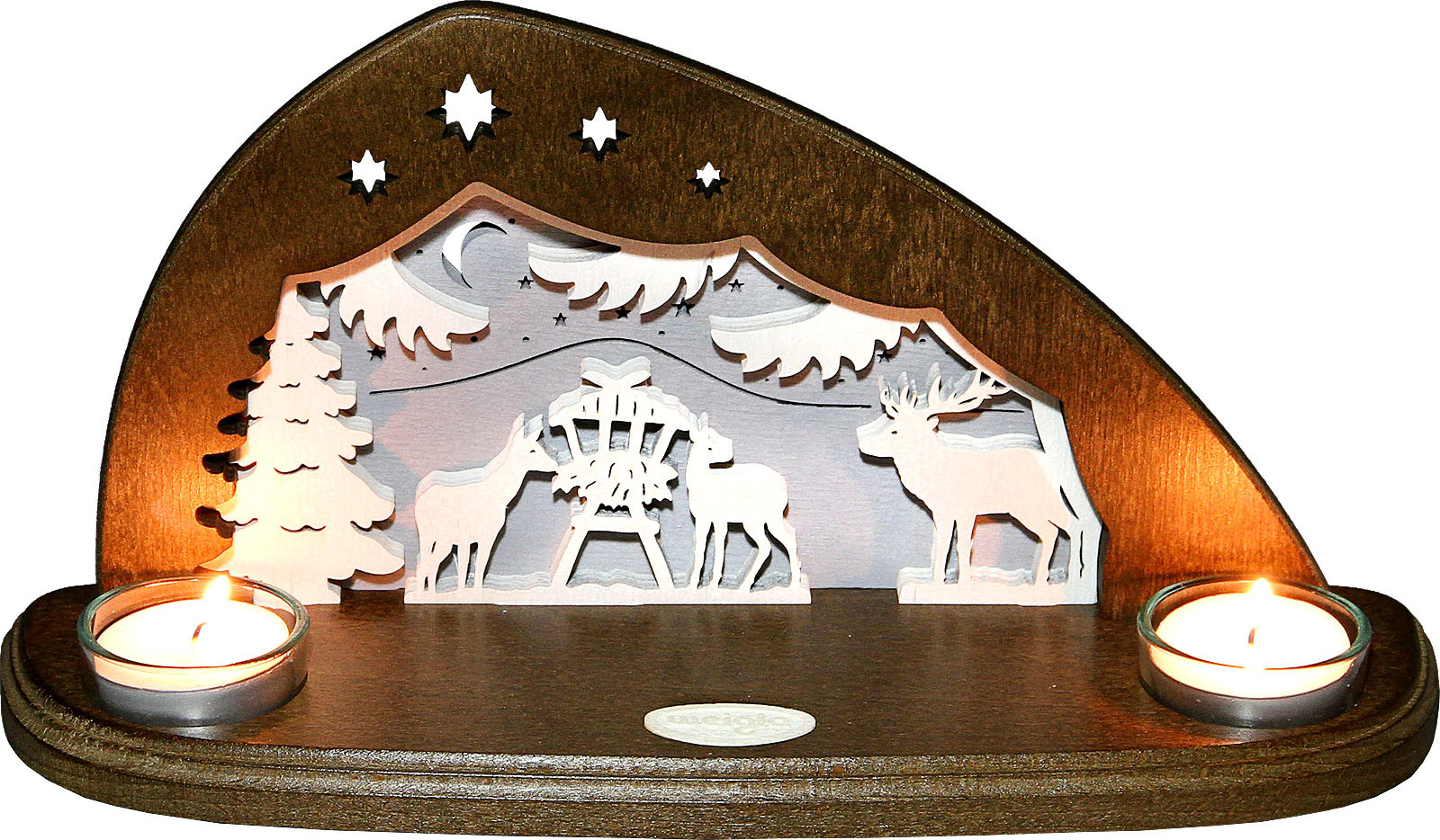 tealight holder forest animals