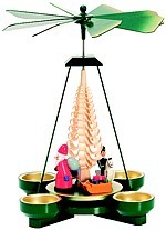 Christmas pyramid toys, green