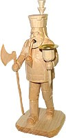 incense smoker, miner with light, natural coloured