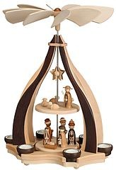 design pyramid, Nativity, for 6 tealights