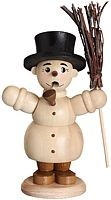incense smoker, snowman