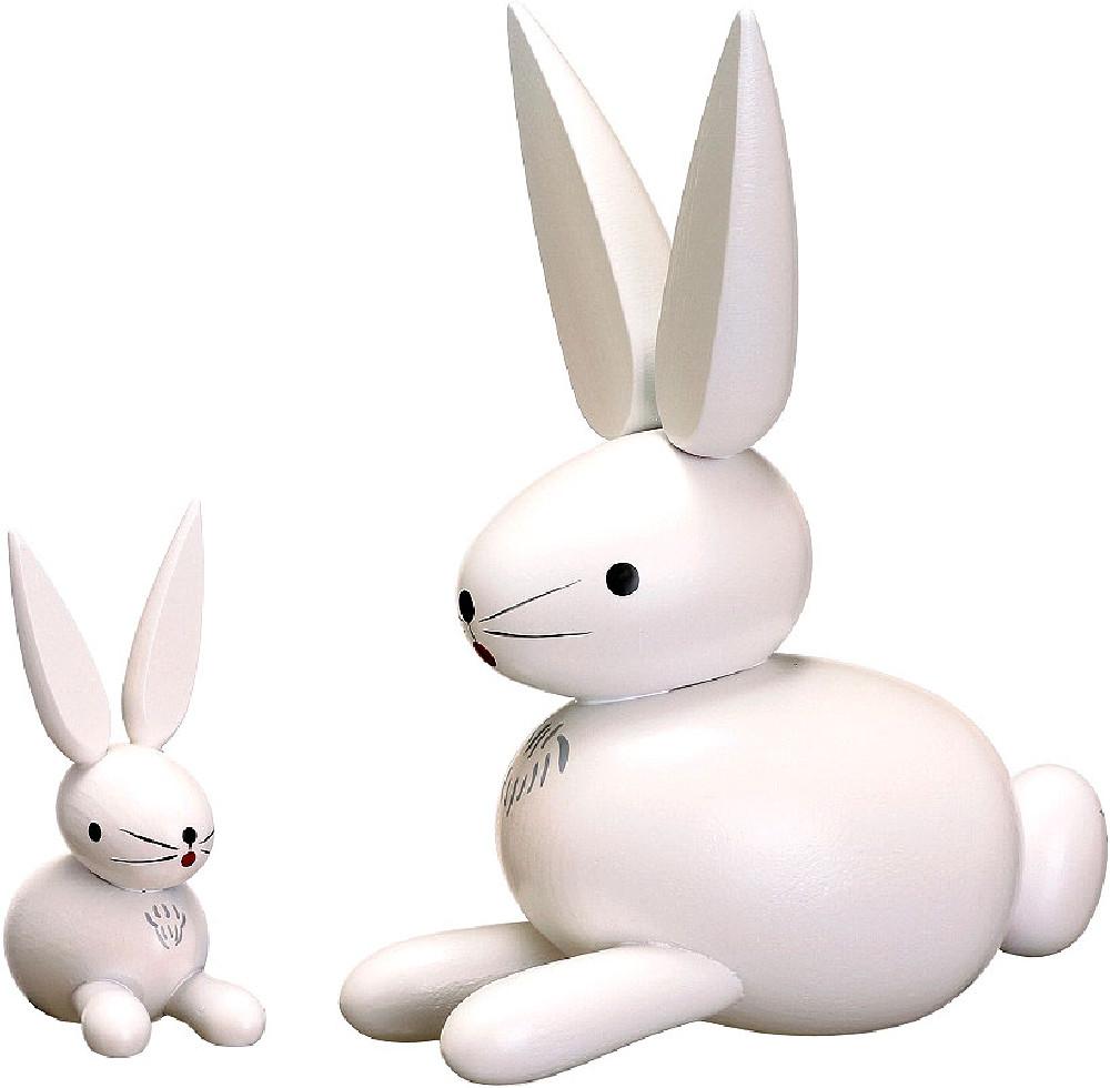 Zeidler Holzfigur Hase - weiß