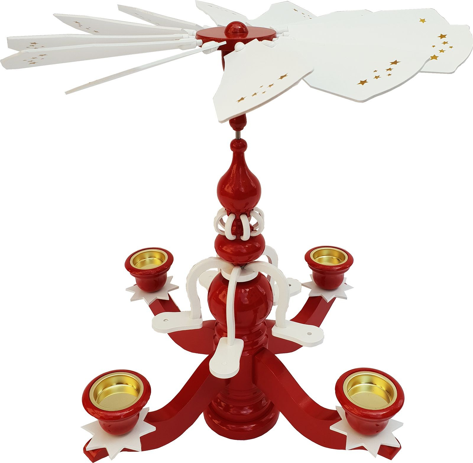 Candlestick pyramid big red, without figures